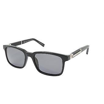 ZILLI Solglasögon Titanacetat Läder Polariserat Frankrike Handgjord ZI 65011 C03