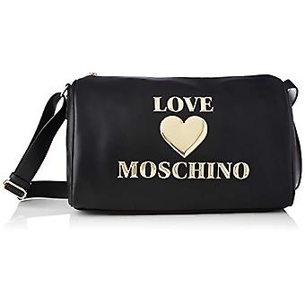 Love Moschino Pre-collection SS21 Women's PU Duffel bag, Shoulder Bag, Black, Normal