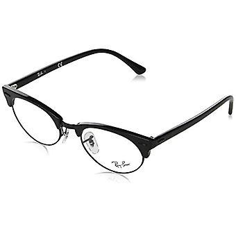 Ray-Ban 0RX3946V8049, Wrinnkled Black On Black, 50 Unisex-Erwachsene