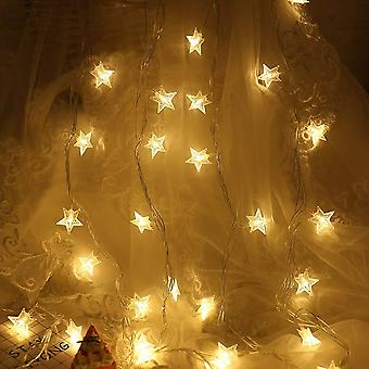 Star Shaped Battery Operated Led Fairy String Lights