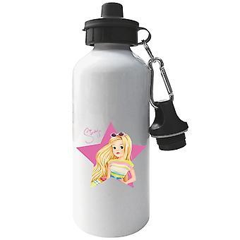Sindy Pink Star Aluminium Sports Water Bottle