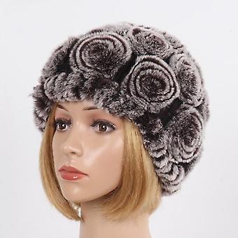 المرأة الشتاء الفراء قبعة وشاح مجموعات
