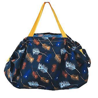 Einkaufstasche wiederverwendbare Lebensmittel Tote Handtasche Organ Pleated Tragbare Aufbewahrung Schultertasche