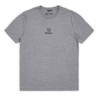 Brixton Main Label Premium T-Shirt Heather Grey