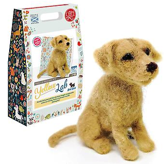 Dinky Dogs Yellow Labrador Needle Felting Kit For Improvers