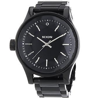 Nixon Faceta de los hombres negro dial reloj - A384-001