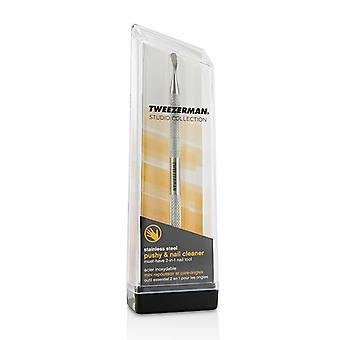 Tweezerman 不锈钢推杆和指甲清洁剂(工作室系列)