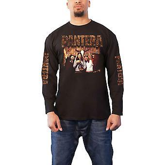 Pantera T Shirt Bong Group Band Logo ny officiell mens svart långärmad