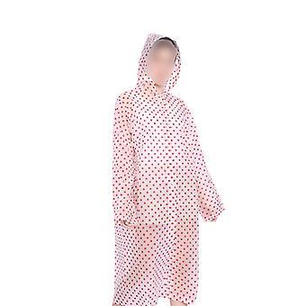 28 * 18Cm roz eva pelerina de ploaie în aer liber moda adult dintr-o singură bucată drumetii poncho impermeabil mackintosh durabil pentru femeie bărbat (mărime roz gratuit) dt3215