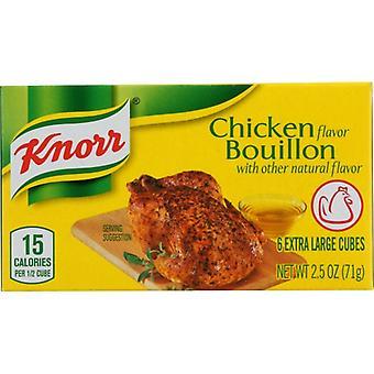 Knorr Bouillon Cube Chkn 6Pc, Case of 24 X 2.5 Oz