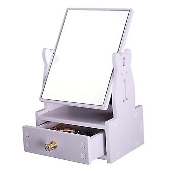 Square Makeup Table Mirror Storage Large Dressing Cosmetic Mirror