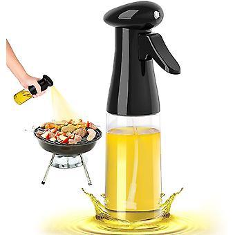 Olive Oil Sprayer Oil Vinegar Spritzer Oil Dispenser Glass Bottle For Kitchen Bbq(Black)