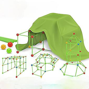 Stavební fort stavební sady pro děti DIY Building Fortress Building Castles Tunnels Play Tent