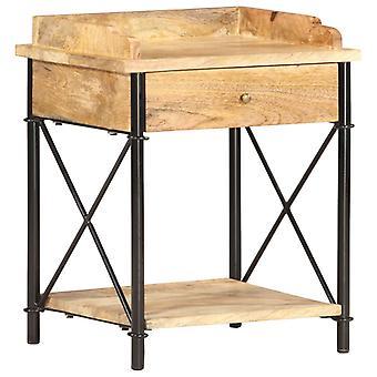 vidaXL طاولة السرير 40 × 35 × 50 سم المانجو الخشب الصلب