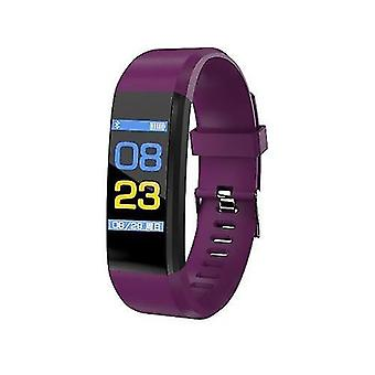 Smart watches 0.96-inch touchscreen smart bracelet sports watch waterproof support movement track heart rate monitor information push purple
