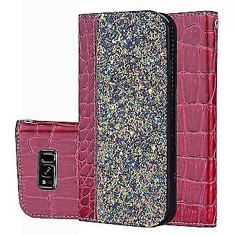 Samsung Galaxy S9 + / S9 Plus Glossy Flip Flip Case Cover - Rose