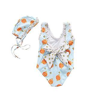 Kinder Badeanzug Mädchen Einteiler Little Princess Cute Swimsuit(M)