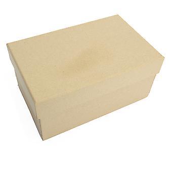 16,5 cm rektangulær højpapir mache boks med låg til at dekorere | Papier kasser