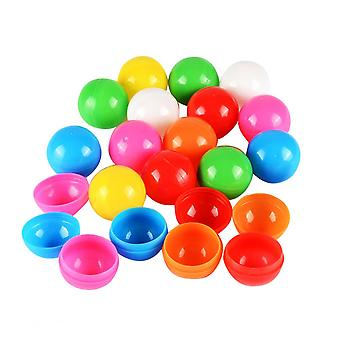 100pcs 3cm Lottery Balls Colorful Balls Table Tennis Ball Party Game Ball Prop (5 Color, Mixed Package)