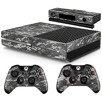 GNG Xbox DIGITAL CAMO-konsoll Hudmerke + 2 kontrollerskall som er kompatible med Xbox One og Kinect