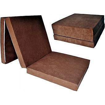 Materasso letto extra spesso - marrone chiaro - materasso da campeggio - materasso da viaggio - materasso pieghevole - 195 x 70 x 15