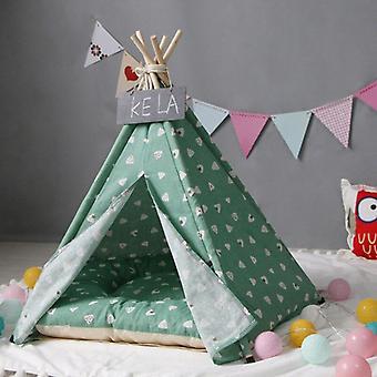 כחול קטן לחיות מחמד כלב אוהל אוהל כל העונות כל העונות כלבים מיטה עמידים למיטה רכה כביסה