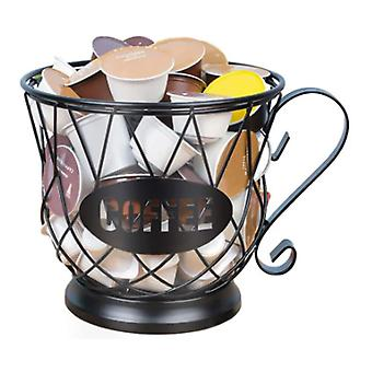 Nordic Iron Art Hollowed Coffee Capsule Storage Basket Creative Fruit Coffee Pod Organizer Holder For Home Cafe Hotel Ornaments