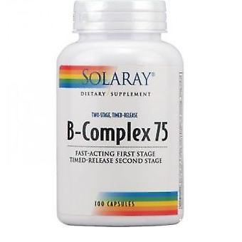 Solaray B Complex Delayed Action 75 mg 100 Capsules