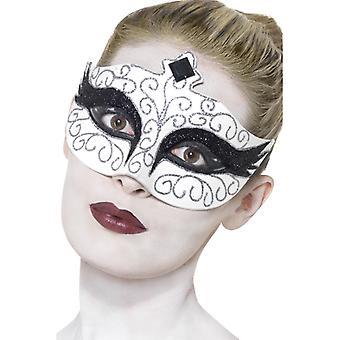 Łabędzie łabędź maska oczy maska biały balet maska