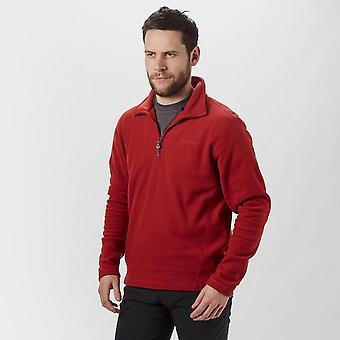 New Brasher Men's Bleaberry Half Zip Fleece Red