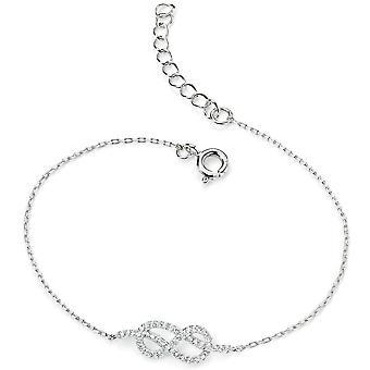 925 zilveren Infinity zirkonium armband