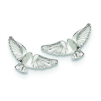925 Sterling Silver Solid Polished Post Earrings Bird Mini for boys or girls Earrings - 1.3 Grams