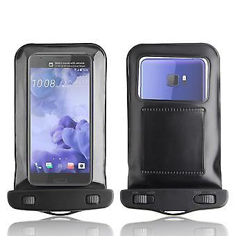 InventCase 防水防尘袋保护盒盖的黑色 HTC U 超