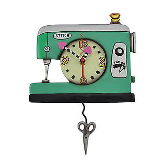 Allen Designs Stitch Sewing Machine Pendulum Wall Clock