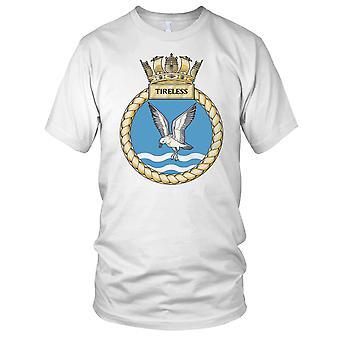 Royal Navy HMS utrettelig Mens T skjorte