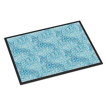 Akvarell geometriske Cirlce på blå innendørs eller utendørs matte 18 x 27