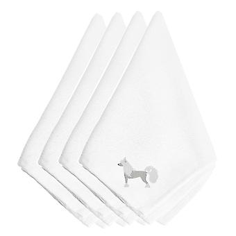 Carolines Treasures  BB3443NPKE Chinese Crested Embroidered Napkins Set of 4