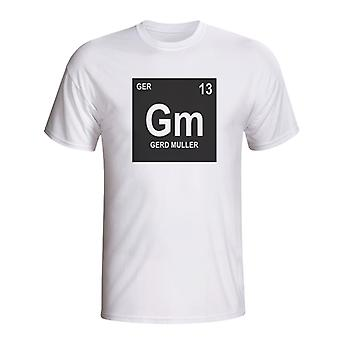 Gerd Muller Germany Periodic Table T-shirt (white)