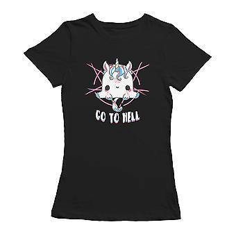 Kawaii gå till helvetet Unicorn roliga grafiska Women's T-shirt
