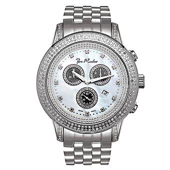 Joe rodeo Diamond Men ' s Watch-Sicilia argint 1,8 CTW