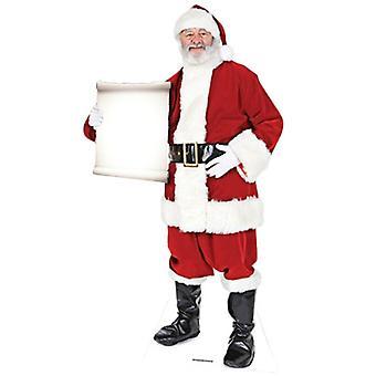 Kerstman - kleine Sign - Lifesize karton gestanst