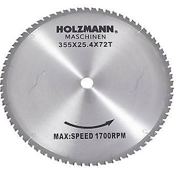 Holzmann Maschinen MKS355SB MKS355SB Carbide metaal cirkelzaagblad 355 x 25,4 mm aantal KPV: 72 1 PC (s)