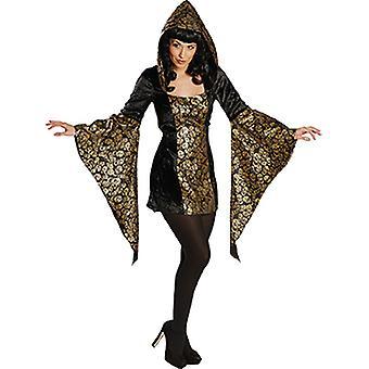 Złota czaszka kobiety kostium tunika czarny