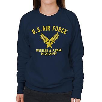 US Airforce Keesler AF Base Mississippi gul Text kvinnors tröja