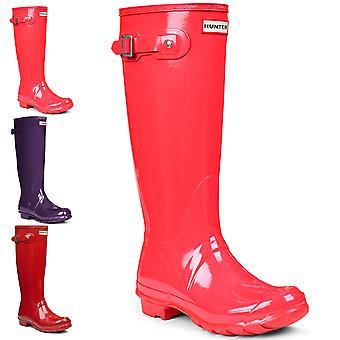 Dame Hunter Original høj glans regn støvler Vinter Festival gummistøvler