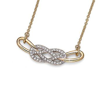 Oliver Weber Pendant West Gold/Rhodium Crystal