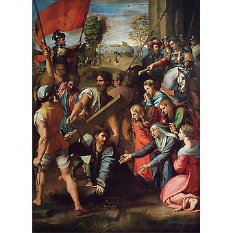 Christ Falls on the Road to Calvary, Raphael, 50x40cm
