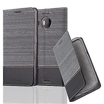 ノキアLumia 950 XL折りたたみ式電話ケース用ケース - カバー - スタンド機能とカードコンパートメント付き