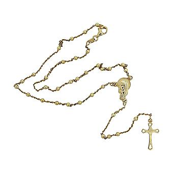 TOC in argento Sterling 7.8gr Goldtone Madonna Rosario tallone & collana croce 18