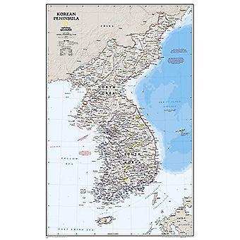 Korean Peninsula, Tubed: Wall Maps Countries & Regions